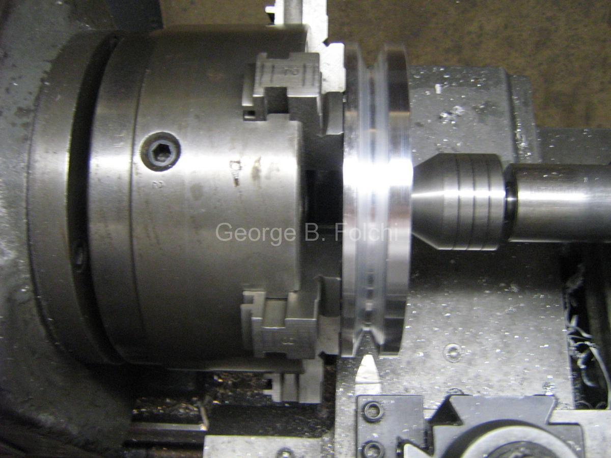 Groove cut 40 HP crank pulley